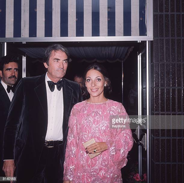 American actor Gregory Peck and his wife Veronique Peck attend the premiere of the James Bond film 'Live and Let Die'