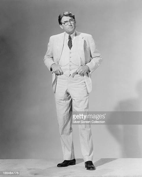 American actor Gregory Peck as Atticus Finch in 'To Kill A Mockingbird' directed by Robert Mulligan 1962
