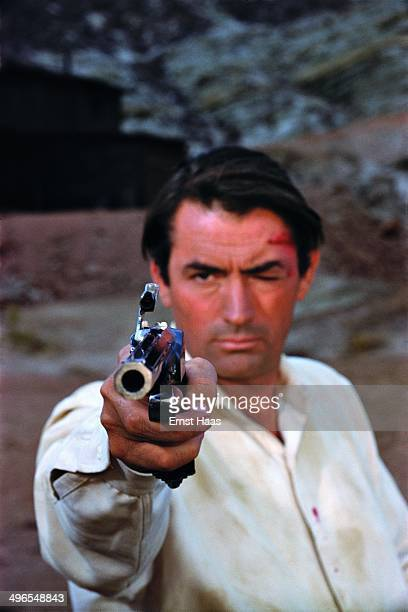 American actor Gregory Peck as James McKay in the western 'The Big Country' USA 1958
