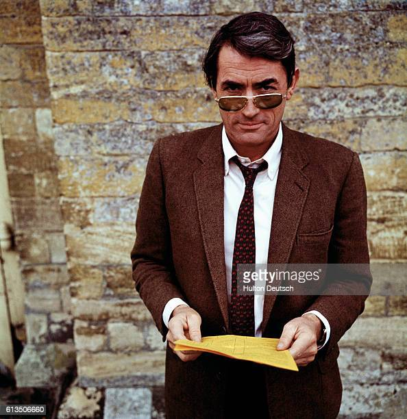 American actor Gregory Peck born Eldred G Peck in 1916 photographed while in London filming the movie Arabesque He received an special Oscar in 1967