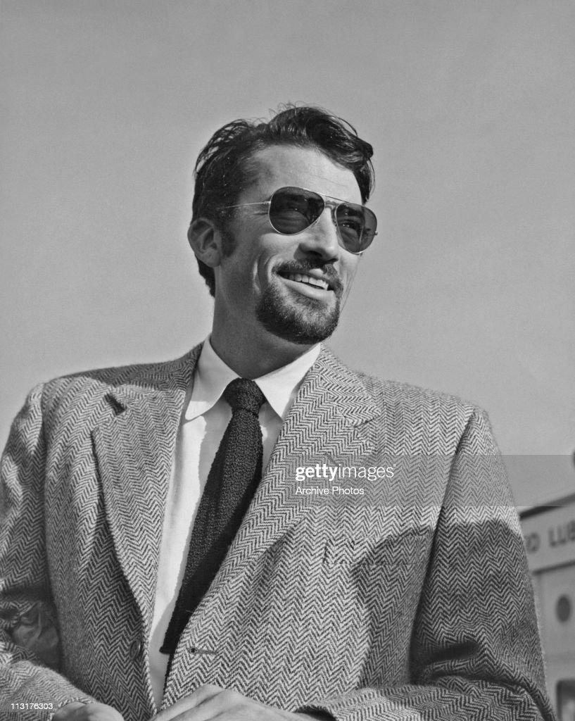 American actor Gregory Peck (1916 - 2003) in San Francisco circa 1948.
