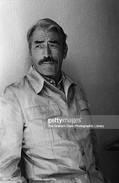 American actor Gregory Peck on the set of 'The Sea Wolves The Last Charge of the Calcutta Light Horse' 1980