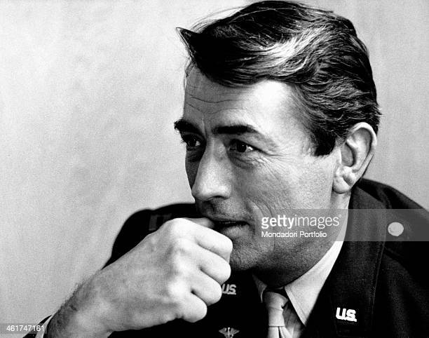 American actor Gregory Peck relaxing while shooting the film Captain Newman MD Hollywood 1963