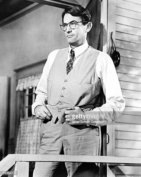 American actor Gregory Peck stars as lawyer Atticus Finch in the film 'To Kill a Mockingbird' directed by Robert Mulligan 1962