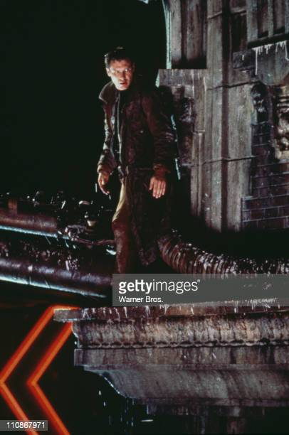 American actor Harrison Ford as Rick Deckard in a scene from Ridley Scott's futuristic thriller 'Blade Runner' 1982