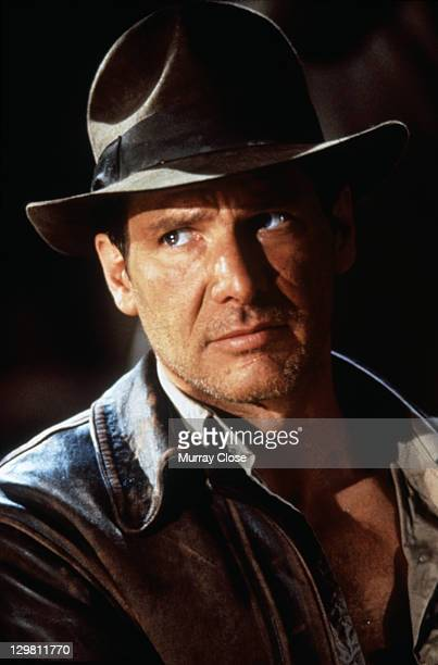 American actor Harrison Ford as the eponymous archaeologist in a publicity still for the film 'Indiana Jones and the Last Crusade' 1989