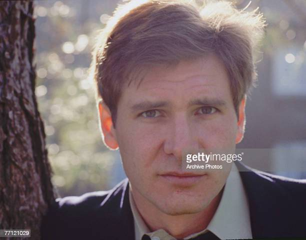 American actor Harrison Ford leans against a tree 1978