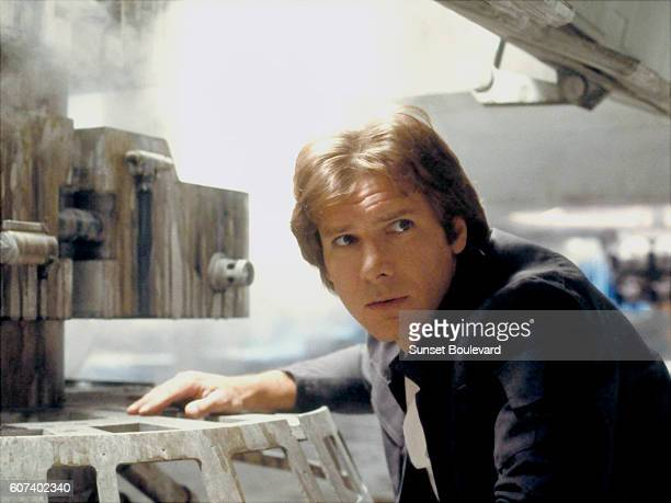 American actor Harrison Ford on the set of Star Wars Episode V The Empire Strikes Back directed by Irvin Kershner