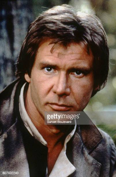 American actor Harrison Ford on the set of Star Wars Episode VI Return of the Jedi directed by Welsh Richard Marquand