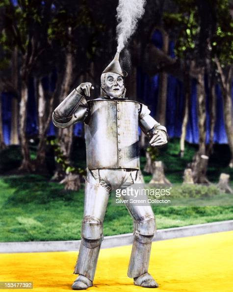 American actor Jack Haley as The Tin Man in 'The Wizard Of Oz' directed by Victor Fleming 1939
