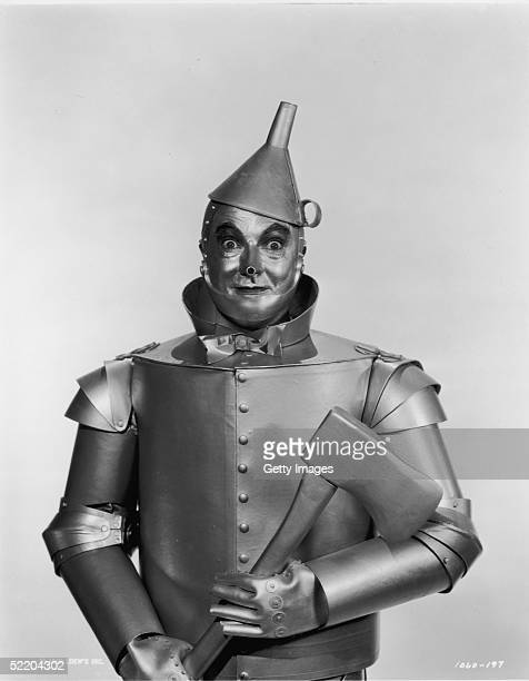 American actor Jack Haley as the Tin Man in Victor Fleming's 1939 film 'The Wizard of Oz' The Tin Man wanted to see the Wizard so he could have a...