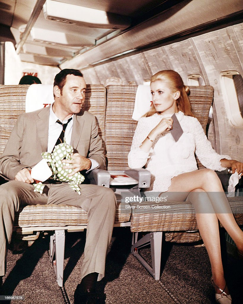American actor Jack Lemmon (1925 - 2001), as Howard Brubaker, and French actress Catherine Deneuve as Catherine Gunther in a scene from 'The April Fools', directed by Stuart Rosenberg, 1969.