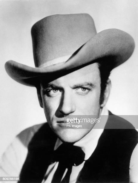 American actor James Arness in the title role of Marshall Matt Dillon in the CBS western TV series 'Gunsmoke'