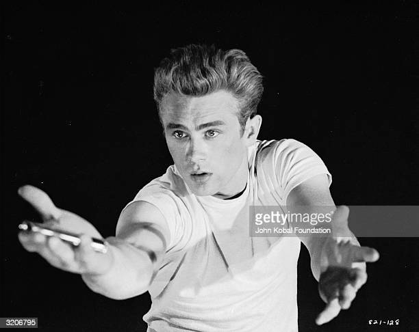 American actor James Dean in an emotional pose