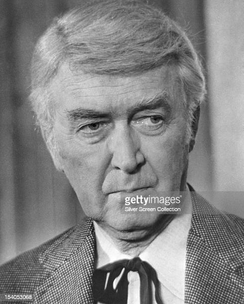 American actor James Stewart as Dr EW Hostetler in 'The Shootist' directed by Don Siegel 1976