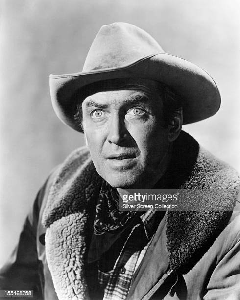 American actor James Stewart as Grant McLaine in 'Night Passage' directed by James Neilson 1957