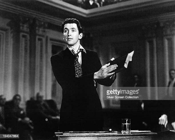 American actor James Stewart as Jefferson Smith in 'Mr Smith Goes To Washington' directed by Frank Capra 1939
