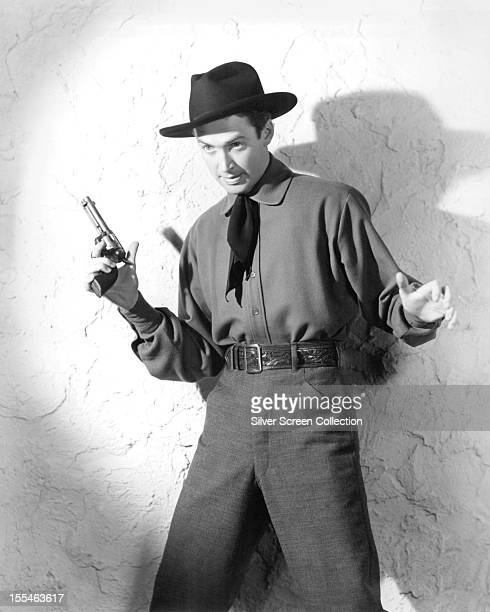 American actor James Stewart as Tom Destry Jr in 'Destry Rides Again' directed by George Marshall 1939