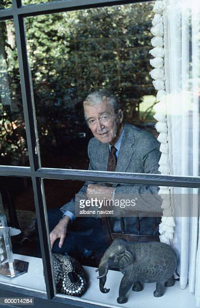 American actor James Stewart at home in Beverly Hills.