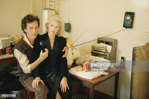 American actor James Woods and Canadian actress Gabrielle Lazure on the set of Joshua Then and Now directed by Canadian Ted Kotcheff