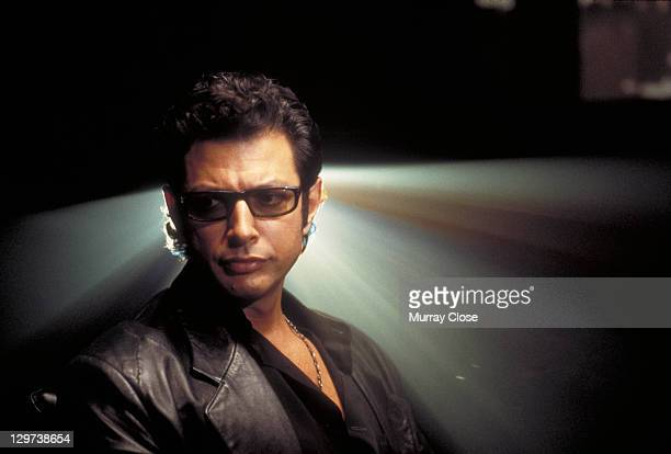 American actor Jeff Goldblum as Dr Ian Malcolm in a scene from the film 'Jurassic Park' 1993