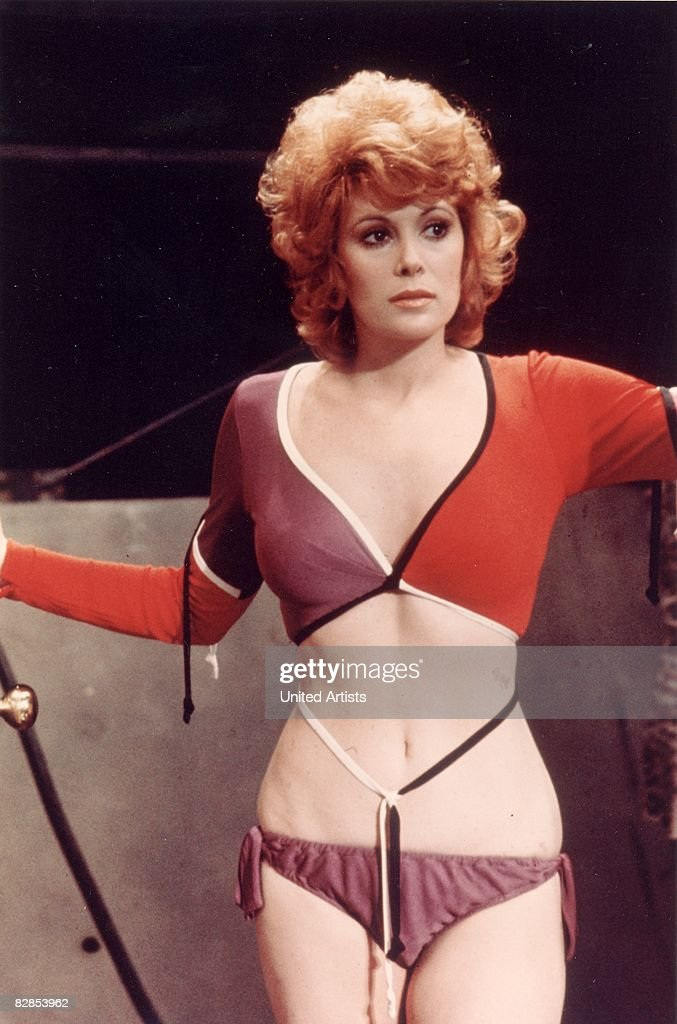 American actor Jill St John wears a cutaway outfit in a still from the James Bond film 'Diamonds Are Forever' directed by Guy Hamilton 1971