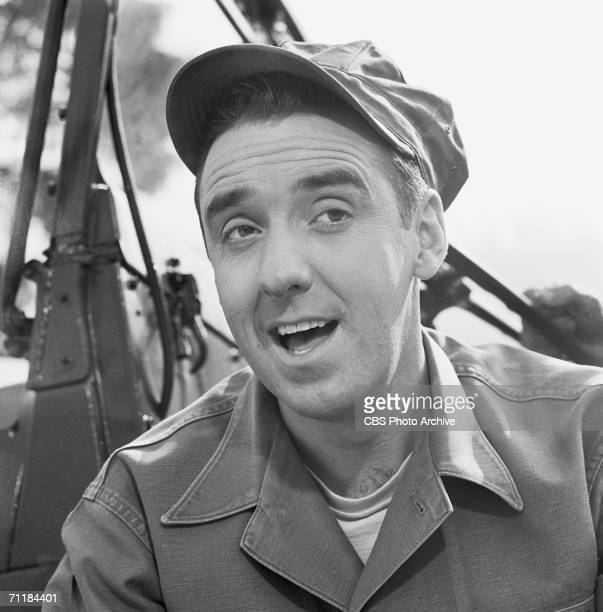 American actor Jim Nabors in an episode of the television comedy series 'Gomer Pyle USMC' called 'Officer Candidate Gomer Pyle' February 19 1965
