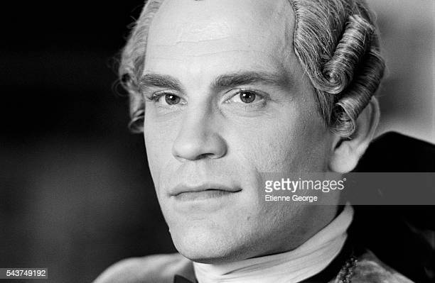 American actor John Malkovich on the set of the film 'Dangerous Liaisons' directed by English director Stephen Frears and based on the Choderlos de...