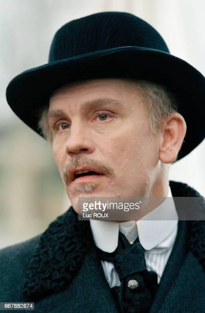 American actor John Malkovich on the set of the film Le Temps Retrouve d'Apres l'Oeuvre de Marcel Proust directed by Raoul Ruiz