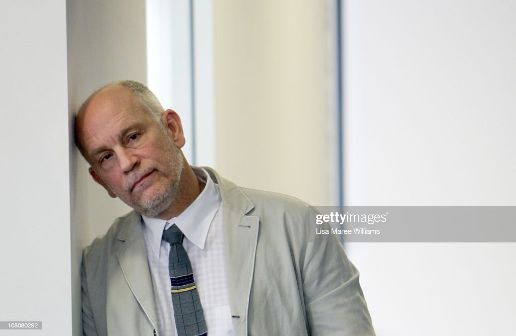 American Actor, <a gi-track='captionPersonalityLinkClicked' href=/galleries/search?phrase=John+Malkovich&family=editorial&specificpeople=208819 ng-click='$event.stopPropagation()'>John Malkovich</a> rests his head against a wall prior to the start of a press conference for 'The Giacomo Variations' on January 17, 2011 in Sydney, Australia. Malkovic will perform on stage for the first time in Australia at the Sydney Opera House as part of the annual Sydney Festival.