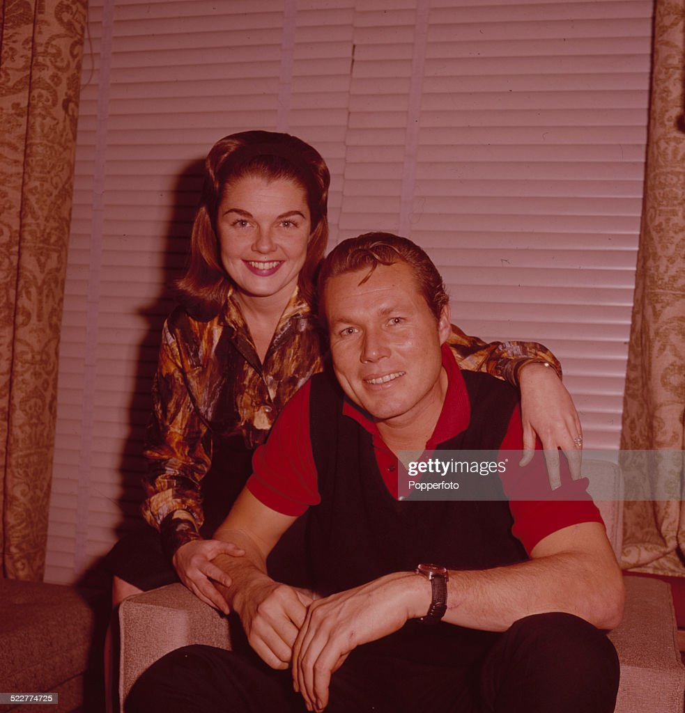 American actor John Smith star of the television series Laramie posed with his wife Luana Patten in London in 1963