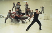 American actor John Travolta during the 'Greased Lightning' scene from the film 'Grease' 1978