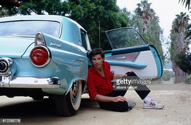 American actor John Travolta in his Californian home