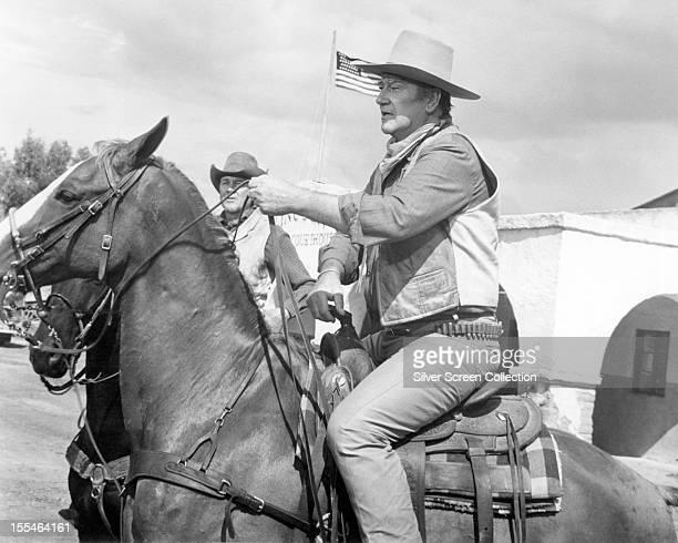 American actor John Wayne as Colonel Cord McNally in 'Rio Lobo' directed by Howard Hawks 1970