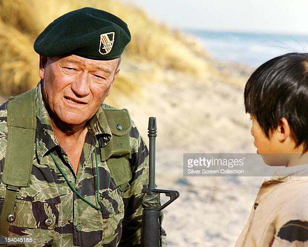 American actor John Wayne as Colonel Mike Kirby in 'The Green Berets' directed by John Wayne Ray Kellogg and Mervyn LeRoy 1968