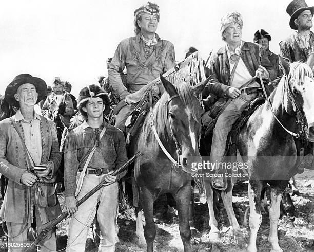 American actor John Wayne as Davy Crockett in 'The Alamo' directed by Wayne 1960
