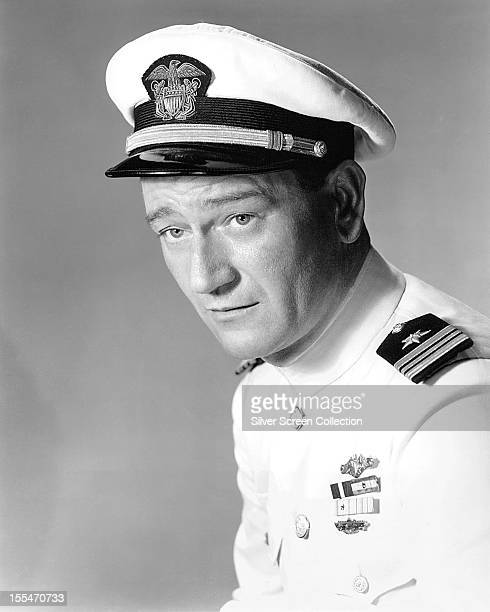 American actor John Wayne as he appears in 'Operation Pacific' directed by George Waggner 1951 Wayne plays Lieutenant Commander Duke E Gifford in the...