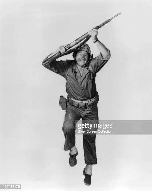 American actor John Wayne in a publicity still for 'The Green Berets' directed by Wayne Ray Kellogg and Mervyn LeRoy 1968