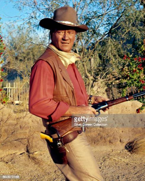 American actor John Wayne in a scene from 'El Dorado' 1967