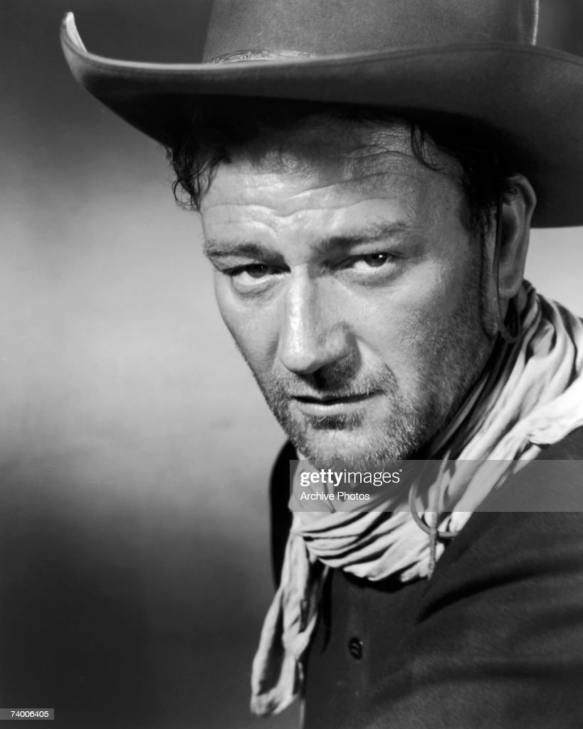 American actor <a gi-track='captionPersonalityLinkClicked' href=/galleries/search?phrase=John+Wayne&family=editorial&specificpeople=69997 ng-click='$event.stopPropagation()'>John Wayne</a> (1907 - 1979) stars as Robert Marmaduke Hightower in the western '3 Godfathers', 1948.