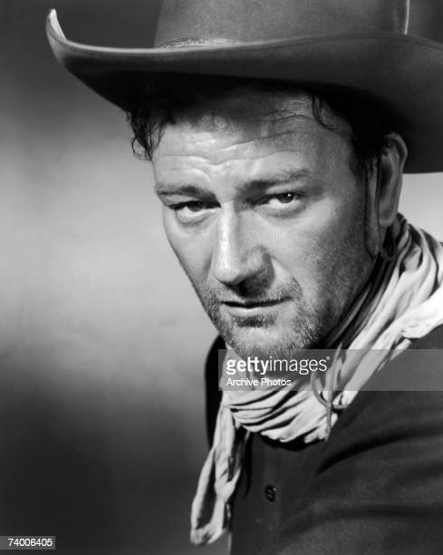 American actor John Wayne stars as Robert Marmaduke Hightower in the western '3 Godfathers' 1948
