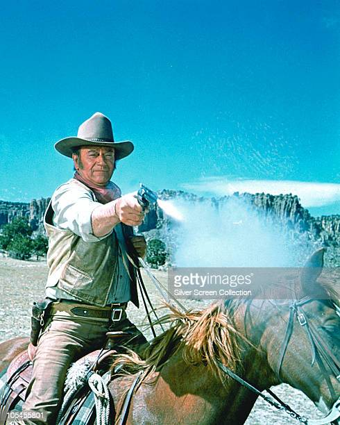 American actor John Wayne stars in the film 'The Undefeated' 1969