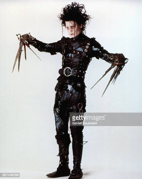 American actor Johnny Depp on the set of Edward Scissorhands written and directed by Tim Burton