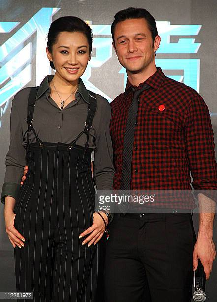American actor Joseph GordonLevitt and Chinese actress Xu Qing attend the press conference of the new movie 'LOOPER' at InterContinental Shanghai...