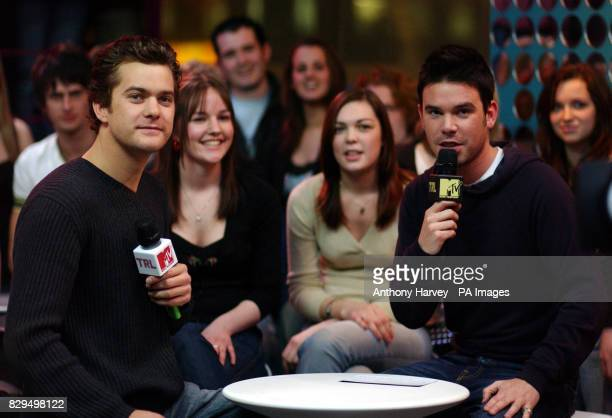 American actor Joshua Jackson talks to host Dave Berry during his guest appearance