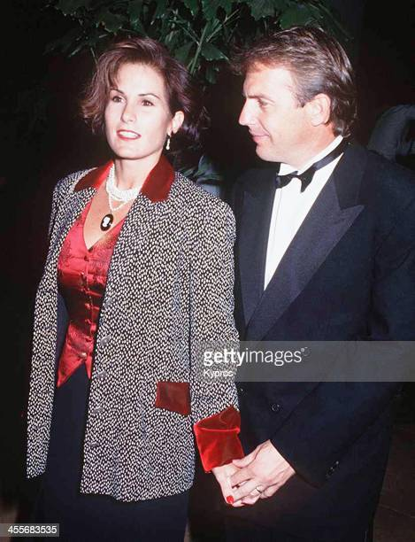 American actor Kevin Costner with his wife Cindy 1992