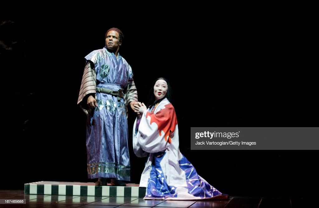 American actor Kevin Kenerly and Japanese actress Ako during a performance of the Ping Chongdirected production of 'Throne of Blood' at the 2010 Next...