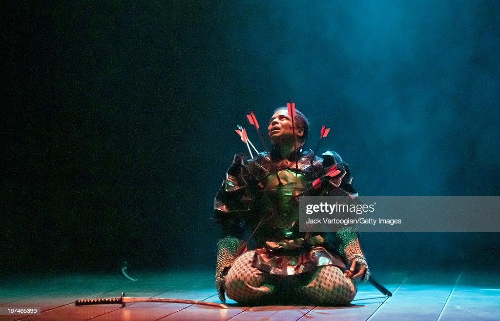 American actor Kevin Kenerly during a performance of the Ping Chongdirected production of 'Throne of Blood' at the 2010 Next Wave Festival at the...