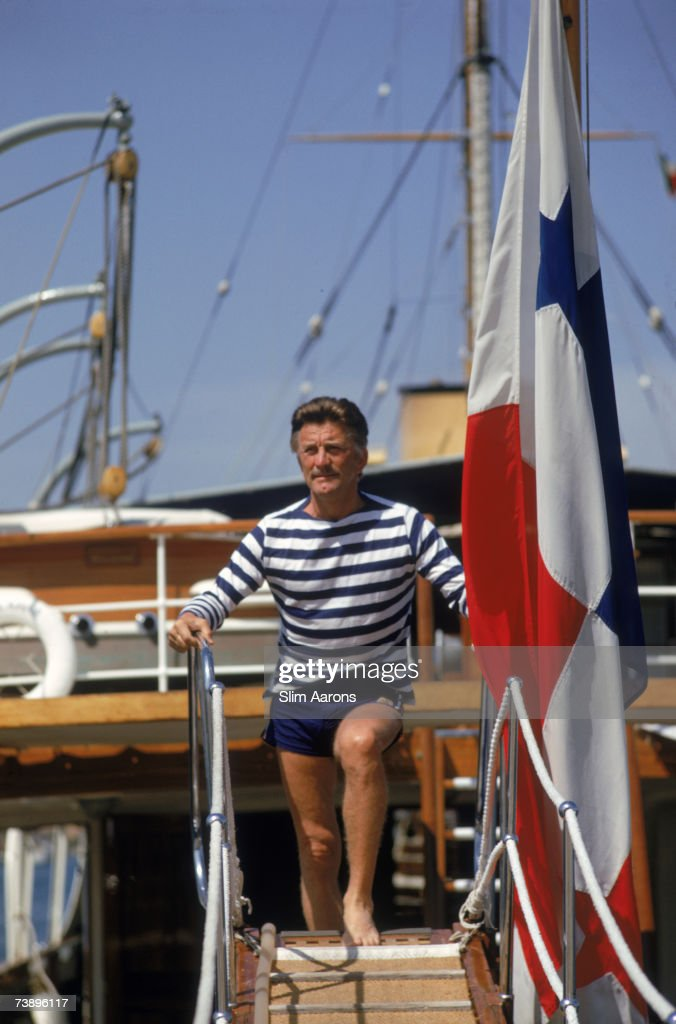 American actor Kirk Douglas on holiday on the Costa Smeralda, Sardinia, August 1967.