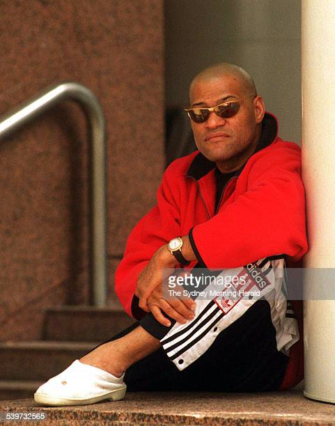 American actor Laurence Fishburne on the set of the film 'The Matrix' 14 March 1998 SMH Picture by JACKY GHOSSEIN